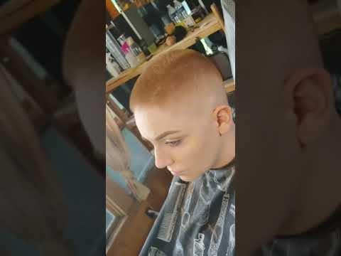 Female bald fade fire!!!