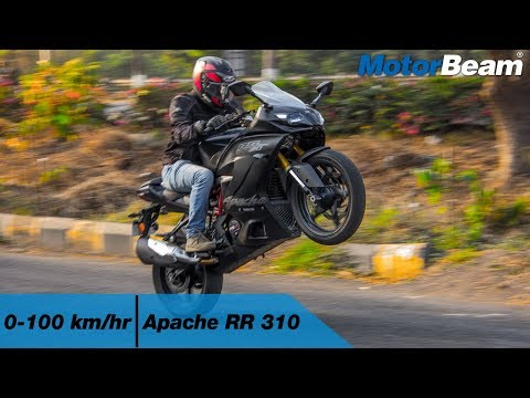 TVS Apache RR 310 - 0-100 km/hr & Top Speed [VBOX] | MotorBe