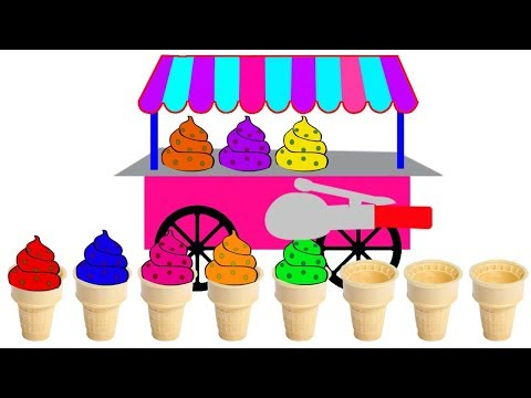 Learn Ice Cream Colors Video For Kids || Nursery Rhymes Collection For Children thumbnail