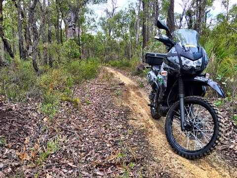 Riding the KLR around Mundaring Weir, Perth Western Australia