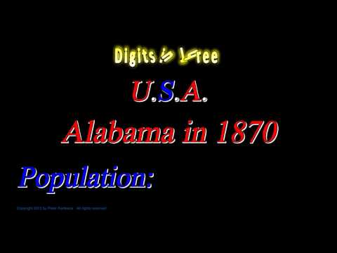 Alabama Population in 1870 - Digits in Three