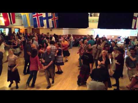 Contra dance at the memorial for Portland dancer Rick Anderson Travel Video