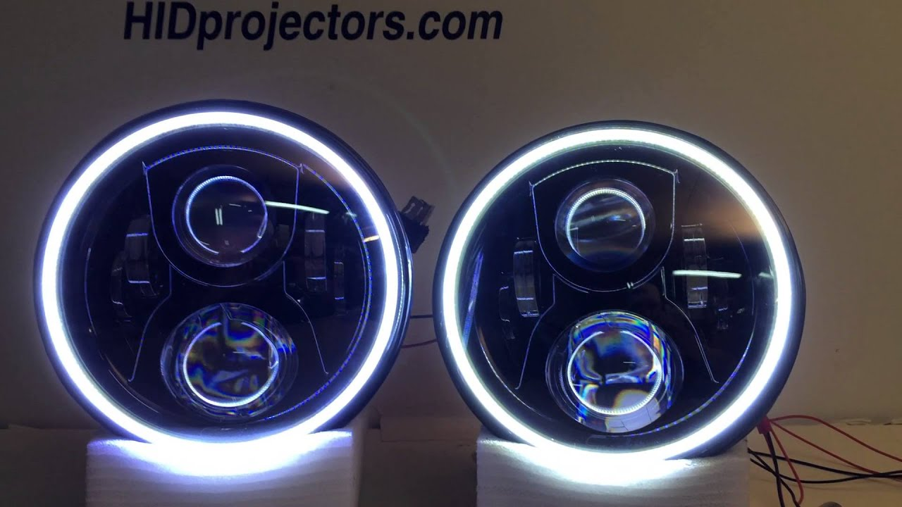 7 Quot Jeep Wrangler Halo Jw Speaker Headlights From