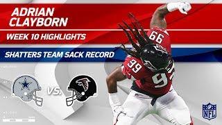 Adrian Clayborn Sets Team Record w/ 6 Sacks! | Cowboys vs. Falcons | Wk 10 Player Highlights
