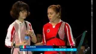 """Aida Román, """"Duelo Final"""", Nimes 2014 (Francia) - Campeonato Mundial de Tiro con Arco Bajo techo"""