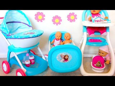Best Baby Doll Nursery Set- Stroller toy for dolls, High Chair, Bed doll PlayToys forGirls