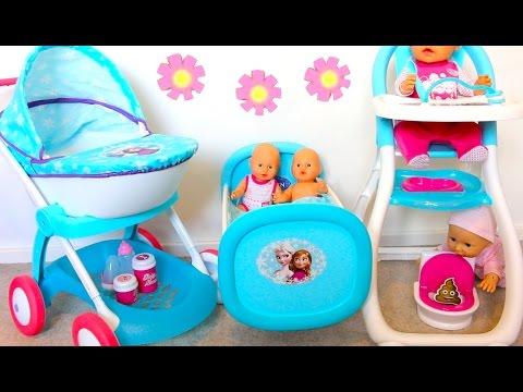 baby toy high chair set elastic covers for weddings best doll nursery stroller dolls bed playtoys forgirls