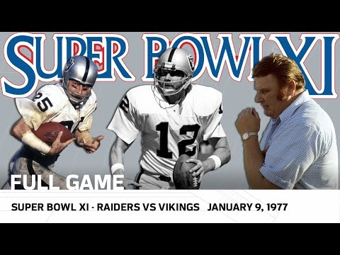 Super Bowl XI | Raiders vs. Vikings | NFL Full Game