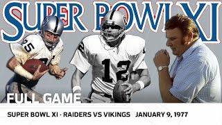 Super Bowl XI | Raiders vs. Vikings | NFL Full Game