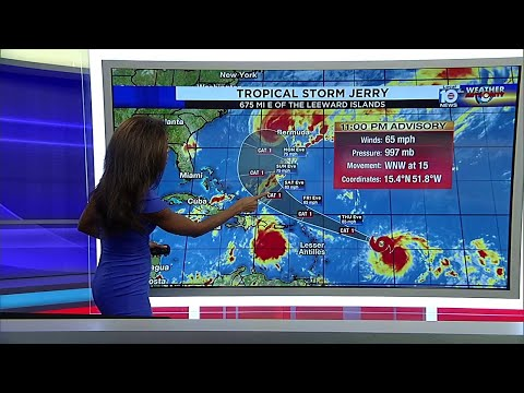 Tropical Storm Jerry forms