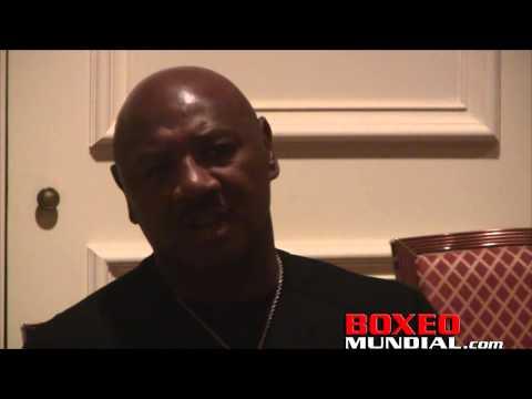 Marvin Hagler media session before Nevada Boxing Hall of Fame induction