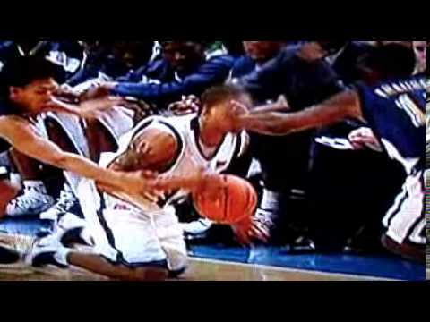 Allan Ray has his eye poked out during basketball game ...