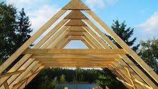видео Крыша с висячими стропилами