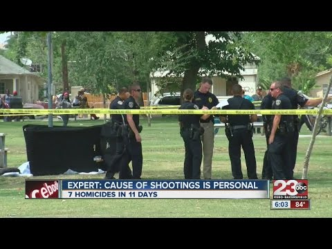 Gang expert says cause of recent shootings is personal.
