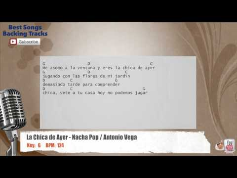 La Chica de Ayer - Nacha Pop / Antonio Vega Vocal Backing Track with chords and lyrics