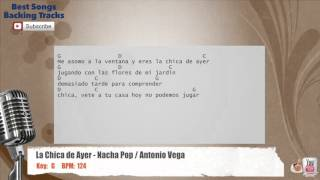 La Chica de Ayer - Nacha Pop / Antonio Vega Vocal Backing Track with chords and lyrics