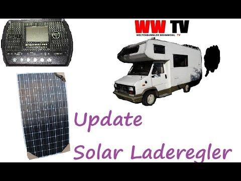 Wohnmobil Solar Laderegler einbauen, UPDATE, Weltenbummler TV