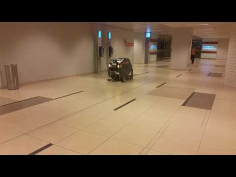 Robotic Floor Cleaning Machine In Changi Airport Singapore