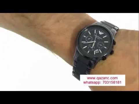 Emporio Armani AR1452 Kişi Qol Saatı. Ceramic Chronograph Watch