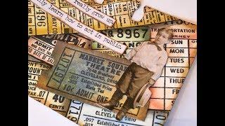 Vintage tickets Rolodex