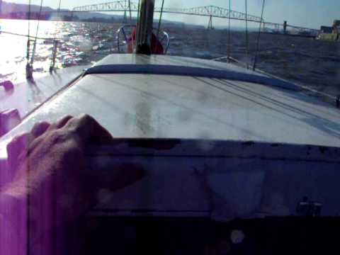 Down the Columbia in the wind