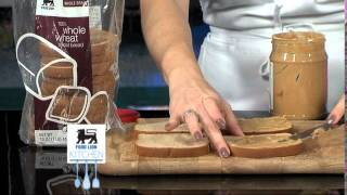 Food Lion Kitchen Recipe- Grilled Peanut Butter Apple Sandwiches