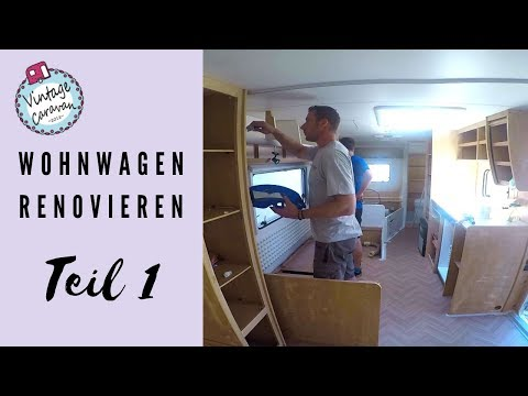 wohnwagen renovieren vorbereiten streichen teil 1 youtube. Black Bedroom Furniture Sets. Home Design Ideas