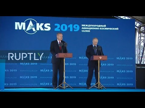 [REFEED] Putin And Erdogan Take Part At Opening Ceremony Of MAKS 2019 - Feed 2