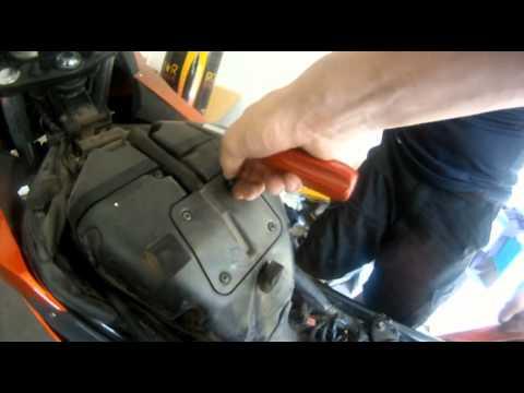 How To Changeclean Air Foam Filter 2011 Ninja 650r