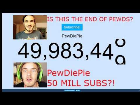 PewDiePie 50 MILLION SUBS!! LIVE COUNT!