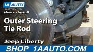 How To Install Replace Outer Steering Tie Rod 2002-05 Jeep Liberty