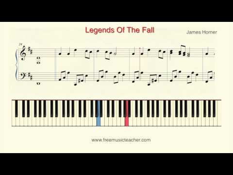 "How To Play Piano: James Horner ""Legends Of The Fall"" Piano Tutorial By Ramin Yousefi"