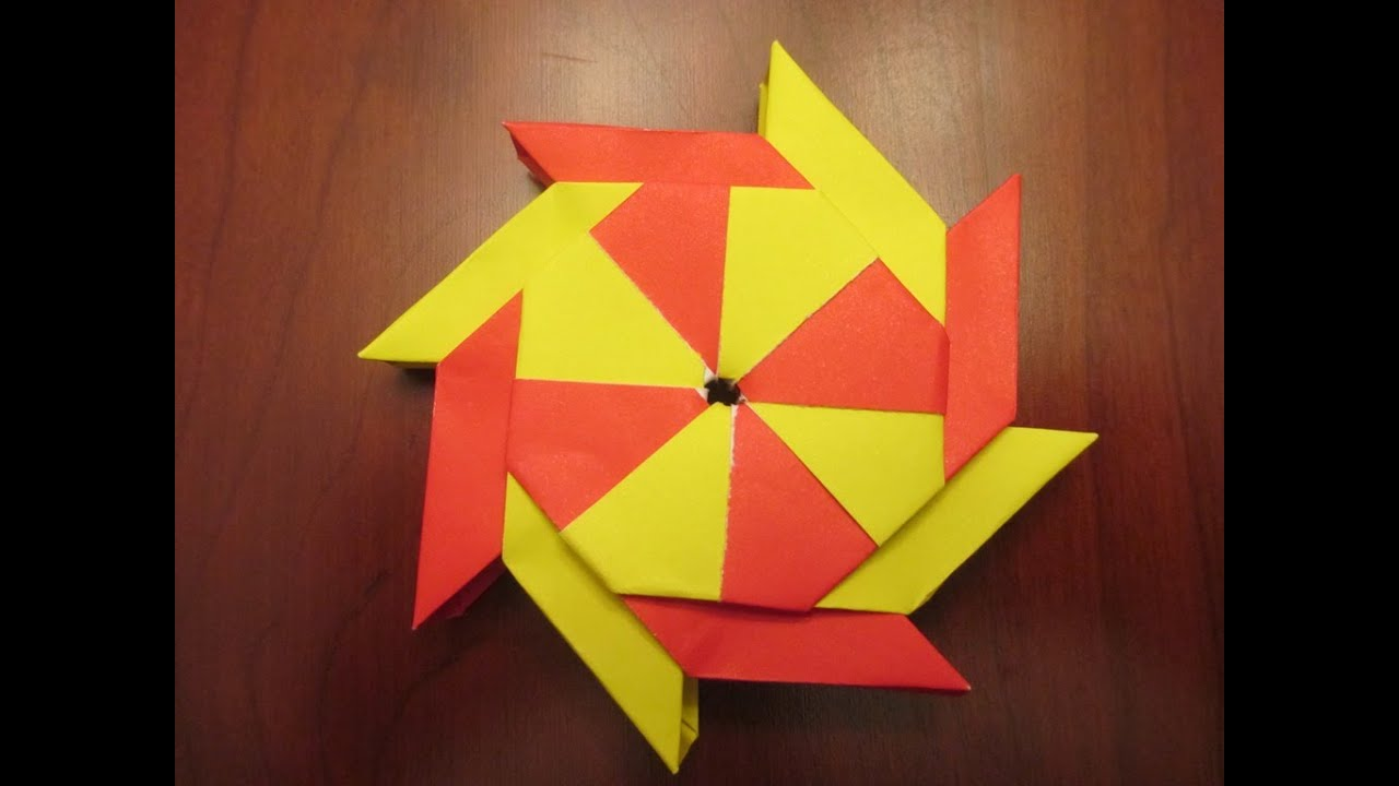 how to make a 3d origami transforming ninja star youtube