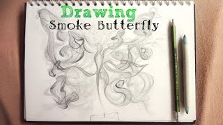 How to draw ¤ SMOKE BUTTERFLY ¤ with a pencil