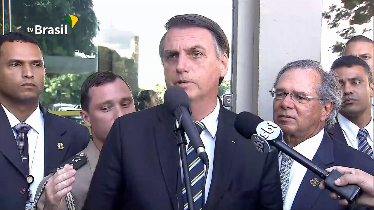 O Presidente Jair Bolsonaro visita o Ministério da Economia