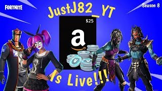 FORTNITE SEASON 8-25$ Amazon Code Giveaway 500 Subs.. Going For Solo W #7