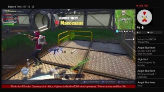 Fortnite Live Stream - 1000 V-Buck Giveaway