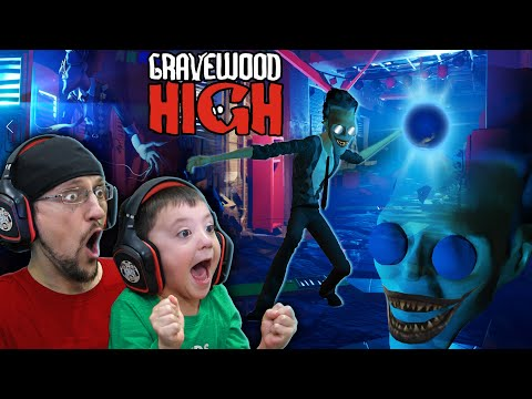 ESCAPE GRAVEWOOD HIGH!  The Evil Scary Teacher Game (FGTEEV) Alpha 1 ENDING