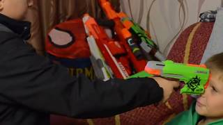 Нёрф БИТВА на Русском:Сбежавший Агент 2...NERF :Rogue Agent 2