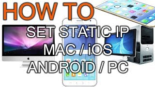 How To Set Static IP on Mac / …