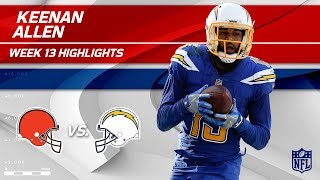 Keenan Allen's 10 Catches, 105 Yds & 1 TD vs. Cleveland! | Browns vs. Chargers | Wk 13 Player HLs
