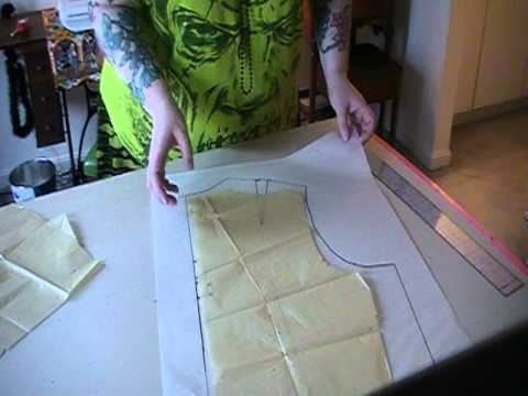 How To Adapt A Vintage Pattern To Plus Size YouTube Stunning How To Enlarge A Pattern