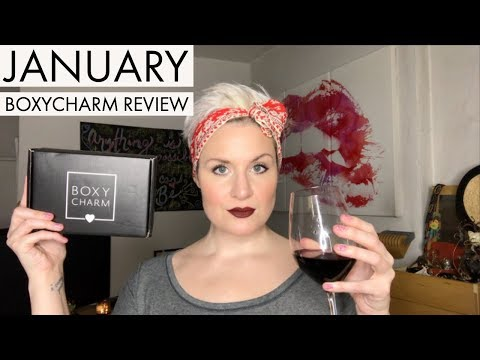January 2019 Boxycharm Review. With an Organic Red Wine.