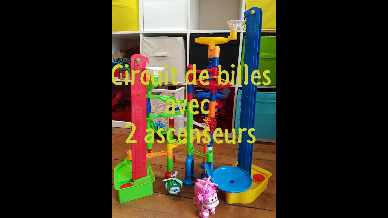circuit de billes avec deux ascenseurs marbles circuit. Black Bedroom Furniture Sets. Home Design Ideas