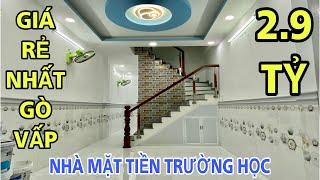 Bán nhà Gò Vấp dưới 3 tỷ| 2.9 tỷ có ngay căn nhà mặt tiền trường học tại đường Phạm Văn Bạch| giá rẻ
