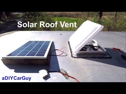 solar roof vent fan diy install on enclosed trailer heng s 12v