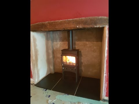 Inglenook Fireplace Transformation Woodwarm Fireview 5kW Slender Multi Fuel Stove