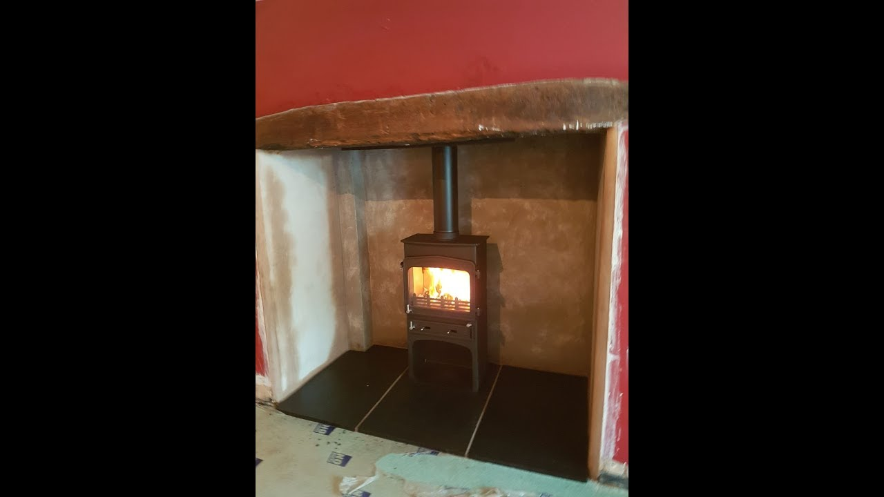 inglenook fireplace transformation woodwarm fireview 5kw slender