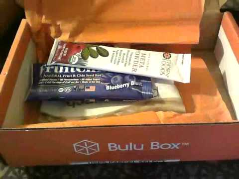 February 2014 Bulu Box (weight loss box)