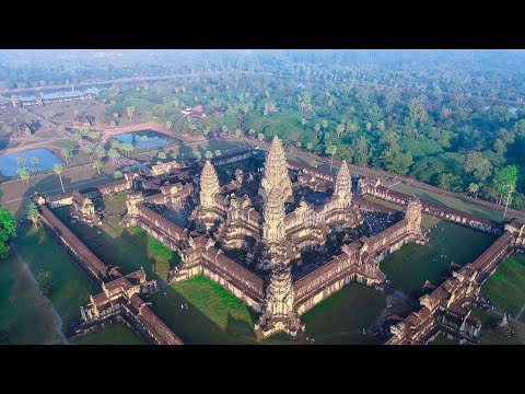 Angkor Wat Cambodia From The Sky | 2018